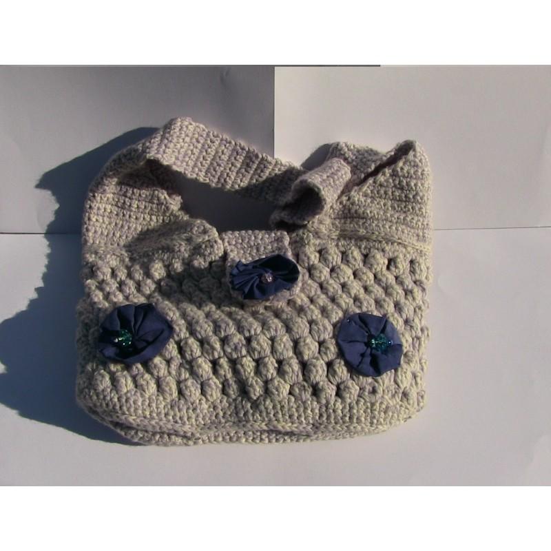 Borsa in lana uncinetto