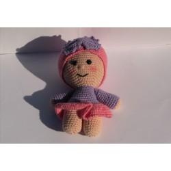 Bambola YoYo Amigurumi Con Fiocco uncinetto