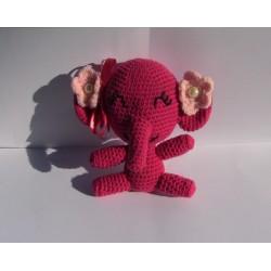 Elefantessa Amigurumi uncinetto