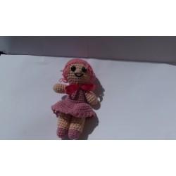 Bambola Amigurumi Rosa uncinetto