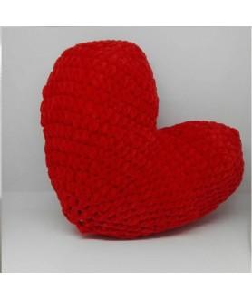 Cuscino cuore amigurumi