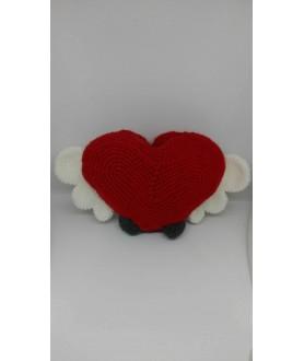 Portacellulare cuore amigurumi