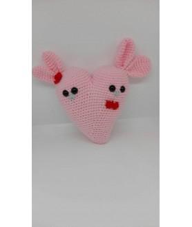 Coniglietti cuore amigurumi