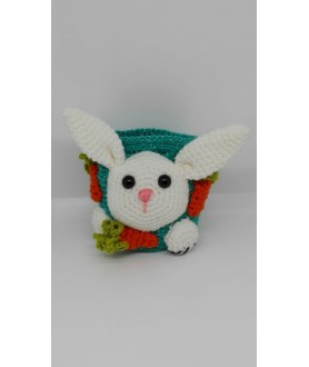 Cestino coniglietto amigurumi