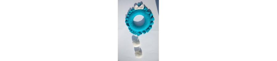 Fiocchi nascita all'uncinetto bimbo e bimba - Shop Online Aquamarine